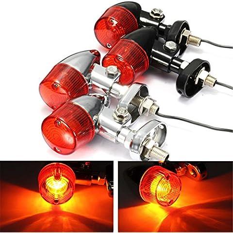 Motocicletta Bullet Freccia Signal Indicatori Light Bulb per Harley Chopper Cruiser
