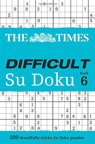 The Times Difficult Su Doku Book 6 por The Times Mind Games