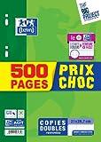 Oxford Scolaire 400019172 Copie double perforé A4 F500 90 G