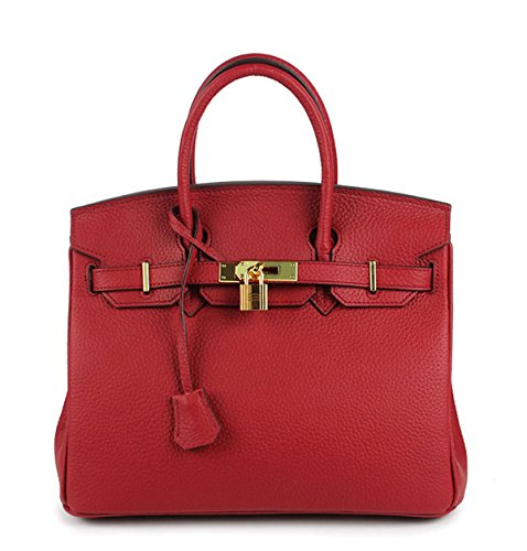 La Signora In Rilievo Borsa In Pelle winered