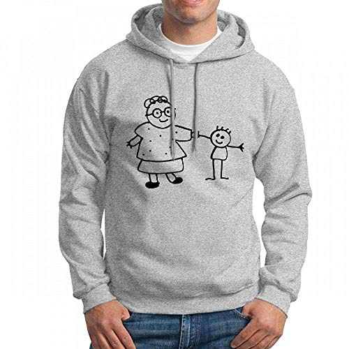 ruziniujidiangongsi Customizable Personalized Mother and Son Cartoon Holding Hands Hoodie Sweatshirt