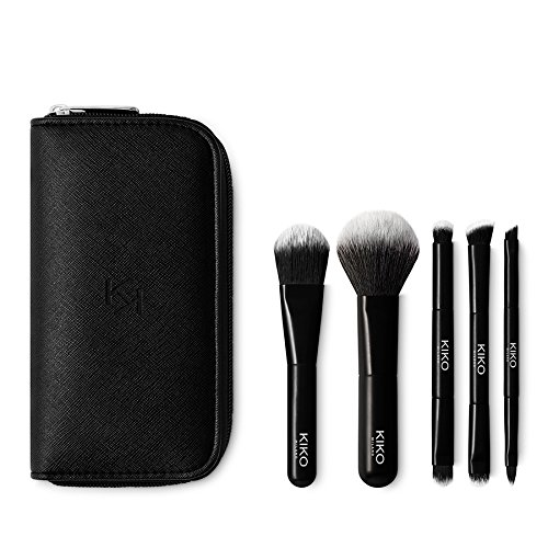 Kiko Milano – Travel Pinsel-Set Beutel mit 5 Profi Pinsel