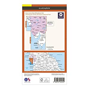 Ordnance Survey Explorer OL 6 The Lake District: South-western area