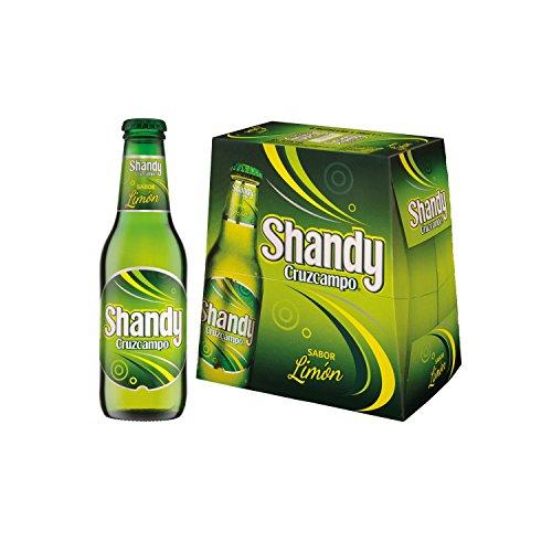Shandy Cruzcampo Lemon Beer - Pack of 6 Bottles x 250 ml - Total: 1.5 L