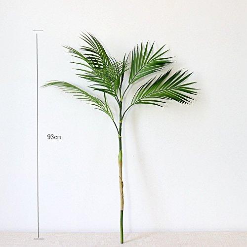 BQEE Kunstpflanze Grün 90cm Länge Palm Leaf Kunststoff Fake Pflanzen für Büro Decor Home Dekoration Wohnzimmer Villa Decor New Home Decor Small Grün