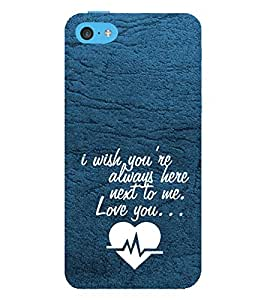 PrintVisa Designer Back Case Cover for Apple iPhone 5c (Proposal Quote)