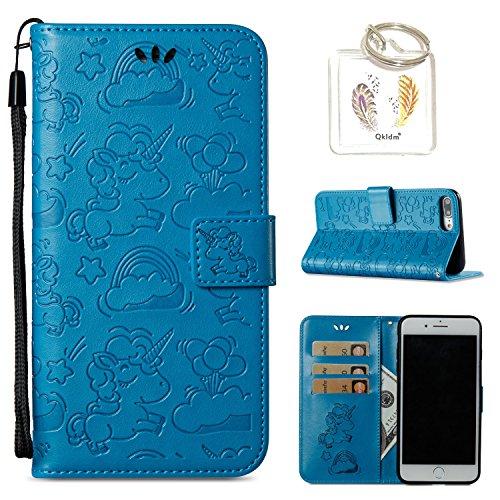 """für 7 Plus iPhone 8 Plus Hülle Geprägte Muster Handy PU Leder Silikon Schutzhülle Handy case Book Style Portemonnaie Design für iPhone 7 / 8 Plus (5,5"""" Zoll) + Schlüsselanhänger(/*120) (5)"""