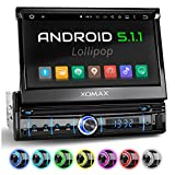XOMAX XM-VRSUA737 Autoradio mit Android 5.1(16GB), GPS Navigation, WiFi WLAN, ODB2, Mirrorlink, Bluetooth Freisprecheinrichtung, 7 Zoll / 18 cm Touchscreen Bildschirm, USB, Micro SD, 1 DIN