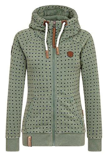 Naketano Female Zipped Jacket A fellow's will Heritage Pine Green Melange, XL (Pine Green Bekleidung)