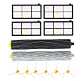 KEEPOW 12Pcs Roomba Replacement Parts for iRobot Roomba 980 960 900 880 870 860 800 Robotic Vacuum Cleaner (6pcs side brushes+4pcs Filters+1 set Tangle-Free Debris Extractor)