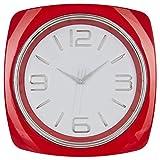 Reloj de pared cuadrado - Estilo Moderno - Color Rojo Lacado