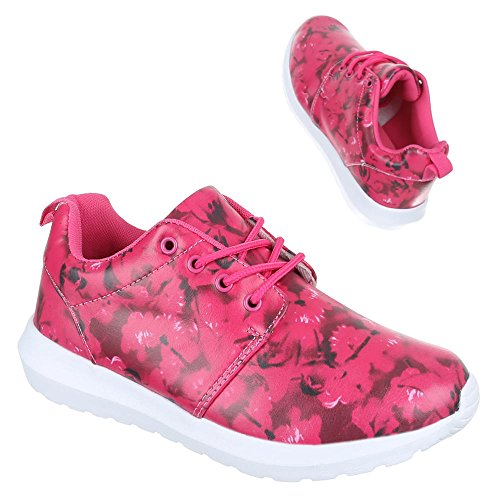 Chaussures femme, 239–5 A, loisirs chaussures sneakers chaussures de sport Rose - Rose
