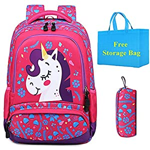 51NK%2BdiauKL. SS300  - Mochila Escolar Unicornio Niña Infantil Adolescentes Sets de Mochila Backpack Casual Set con Bolsa del Almuerzo y…