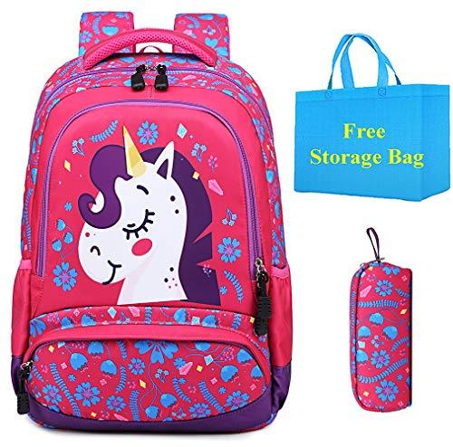 Zaino Scuola Ragazza Unicorno Zainetti per Bambini Bambina Backpack Set per la Scuola Borsa Scolastici Casuale Zainetto Carino Regalo per Ragazze