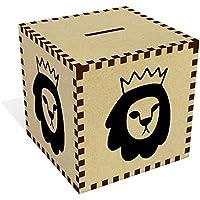 Preisvergleich für Azeeda Groß 'Krone Löwe' Sparbüchse / Spardose (MB00061112)
