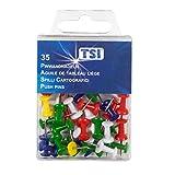TSI Pinnwandnadeln, 35-er Packung, farbig