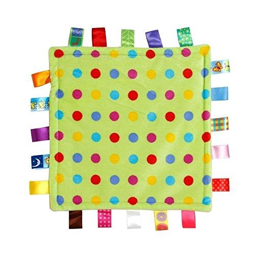 ICYANG Infant Schmusedecke,Niedliche Baby Sicherheitsdecke Einschlagdecke Handtuch,Ultra Soft Kuscheltuch Plüsch Spielzeug(11.81X11.81Zoll, kleines Punktmuster)