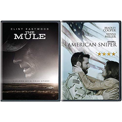 The Bradley Cooper & Clint Eastwood DVD Bundle: 2 Movies (The Mule / American Sniper)