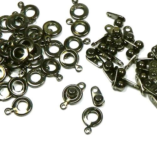 Premium Gewicht Ball & Buchse Schließe 8mm gunmetal 36Verschlüsse Jewelry Ergebnisse