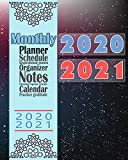 2020-2021 Monthly Planner: Blue Floral 8x10inch 2 Years Monthly Planner Calendar Schedule Organizer From January 1,2020 to December 31,2021 (24 Months ... With Holidays and Motivational Quotes