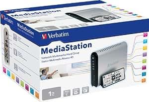"Verbatim MediaStation Disque dur multimédia HD-TV 3,5"" 1080p Divx / mp3 1 To"