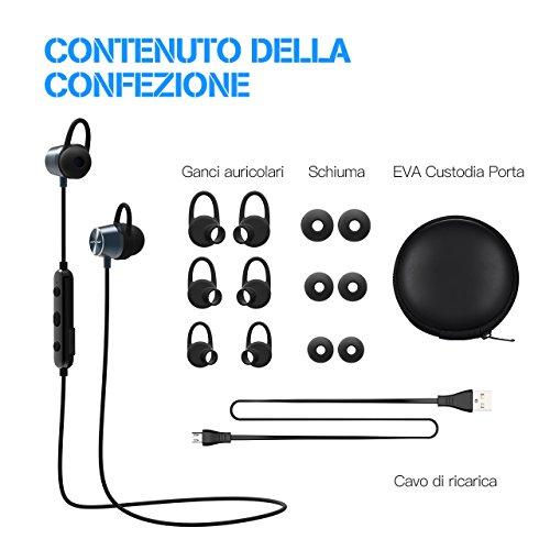Mpow Auricolari IPX7 Magnetico Bluetooth 4.1 Cuffie Magnetico Bluetooth 1cb254db1cea