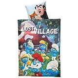 Original die Schlümpfe / the Smurfs THE LOST VILLAGE Wende - Linon - Bettwäsche 135x200 / 80x80 cm Baumwolle Öko Tex NEU
