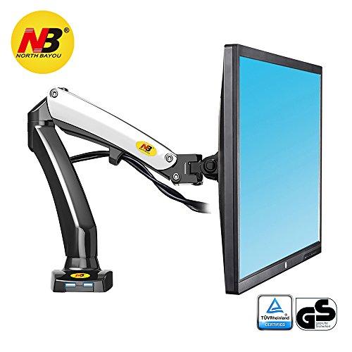 NB North Bayou Support de moniteur Support pour écran PC sur bureau design ergonomique ressort à gaz avec port USB (17-27)