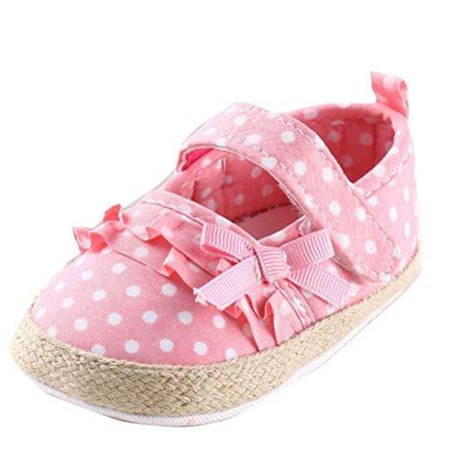 Ouneed® Krabbelschuhe , Baby Segeltuch Schuh Turnschuh rutschfeste weiche alleinige Kleinkind Schuhe Rosa