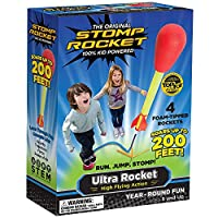 Stomp Rocket 20008 Ultra Rocket Launcher, Red