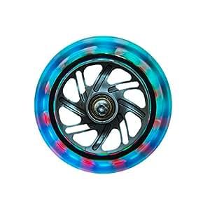 globber lot de 2 roulettes lumineuses avant pour trottinette multicolore sports et. Black Bedroom Furniture Sets. Home Design Ideas