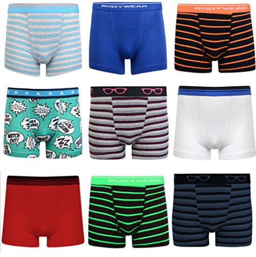 Boys Boxer Shorts Super Quality Ages 3 - 15 (5-6 (Height 110-116cm), 6 Pairs)
