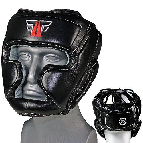 MMA Kopfschutz Echtes Leder Boxen Muay Thai Kikboxen Kopfschoner FOX-FIGHT