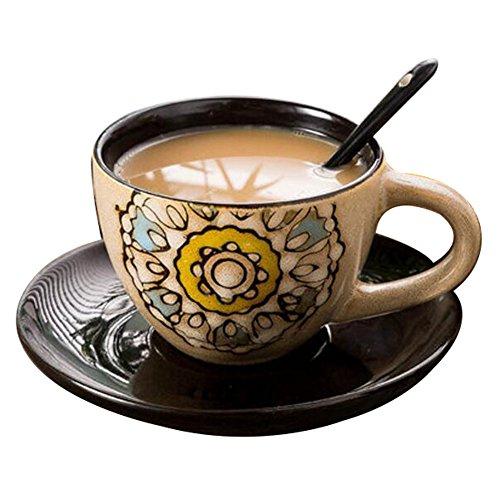 Schöne Keramik Geschenk Kaffeetasse Tee Tasse Milch Tasse für Home/Office/Restaurant-A6