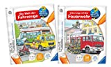 Tiptoi die Welt der Fahrzeuge + Unterwegs mit der Feuerwehr Bücher