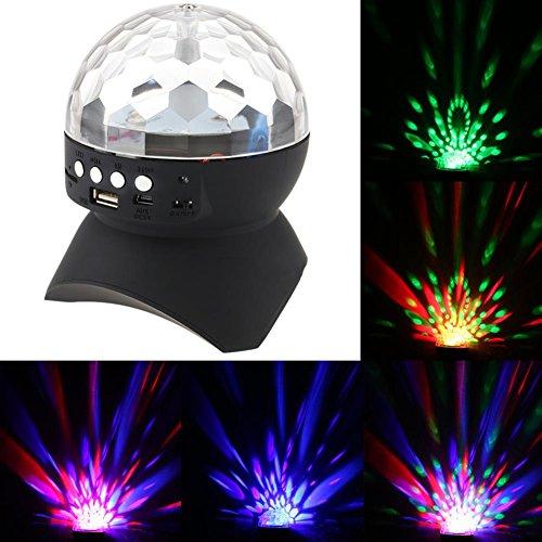 Party Lautsprecher Lichter Bühnenlampe, AOKARLIA Tragbar Kristallkugel Disco Bluetooth / LED Bühnenbeleuchtung Unterstützung FM TF Karte AUX,004 (Strobe Light Bluetooth-lautsprecher)