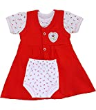 BabyPrem Frühchen Babykleidung Kleidchen T Shirt Hosen Set Mädchen 44-50cm Rot Rose P3