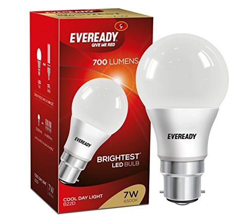 Eveready Base B22D 7-Watt LED Bulb (Pack of 1, Cool Day Light)