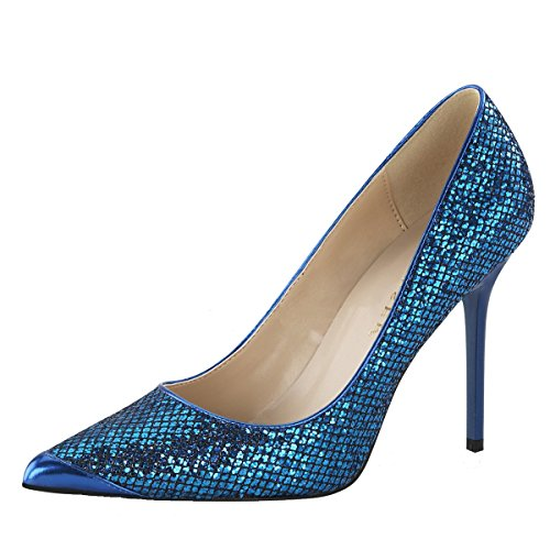Stiletto Pumps, Damen, Blau (blau) Blau (Blau)