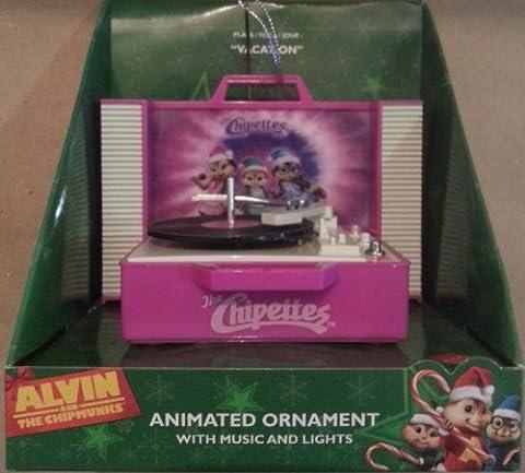 Alvin und die Chipmunks (chipettes) animierte Weihnachten Record Ornament Lila