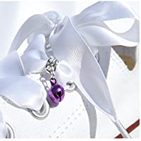 A Cute Little Purple Bell Dangle Trainer Charm from Pimp My Shoes for Converse Trainers