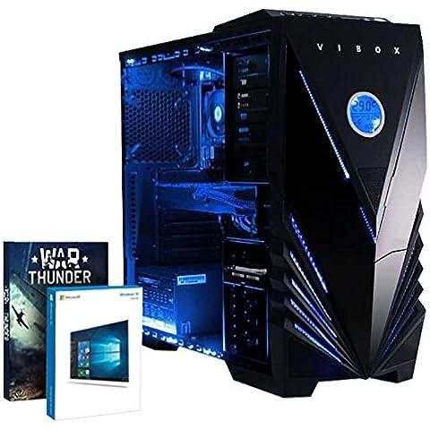Vibox Shock Wave - Ordenador de sobremesa (FX-4350, 32 GB de RAM, 2000 GB, Nvidia Geforce GTX 960, Windows 10), negro