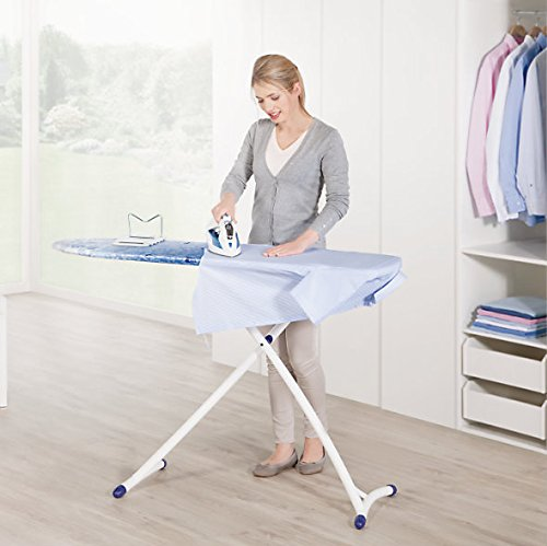 Leifheit Air Board XL Ergo - Tabla de planchar de plástico, color azul/blanco, 140x38 cm