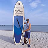 Tony Brown PVC Surfboard Aufblasbares Stand up Paddle Board Set Wave 28295, 295 x 75 x 10cm, Tragkraft 100Kg und Doppelhub-Pumpe