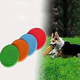 Demarkt Masticar Juguetes Juguete para Perros Perro de Silicona de Formación Frisbee Disco de Vuelo de Dientes Resistentes Mascotas para Perro Ejercicio