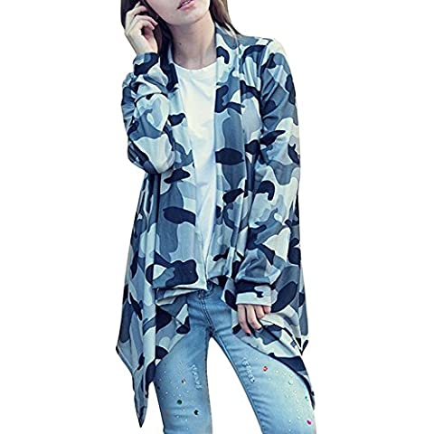 Little Sorrel Le donne Camouflage asimmetrico Cardigan Knit Cover Up oversize signore maglione Tops