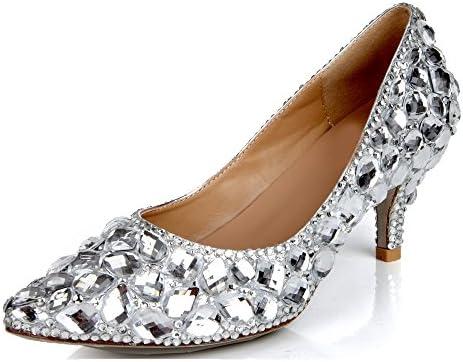 Lacitena Piedras Preciosas Populares de Las Señoras con los Zapatos Solos