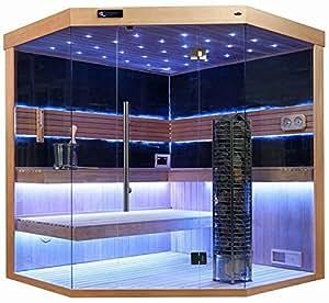 sauna komplett sauna saunakabine ecksauna massivholz traditionelle sauna ts 4063 180 180 210. Black Bedroom Furniture Sets. Home Design Ideas