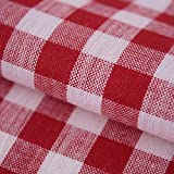 Hans-Textil-Shop Stoff Meterware Karo 1x1 cm Rot Baumwolle