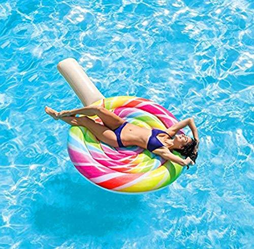 Tossi Lecca-Lecca Gonfiabile Lounger colorato Gaint Pool Floating PVC Galleggiante Fila Estate all\'aperto Partito Beach Raft Giocattolo per Bambini e Adulti 190X150 cm